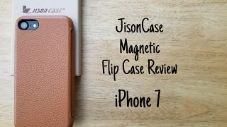 Jisoncase magnetic flip case review - iPhone 7
