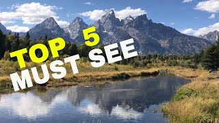 TOP 5 MUST SEE in the GRAND TETON NATIONAL PARK || VIEWING WILDLIFE || WYOMING