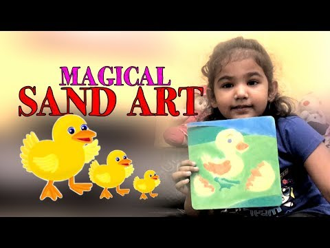 Magical Sand Art Picture For Kids - How To Do Sand Painting