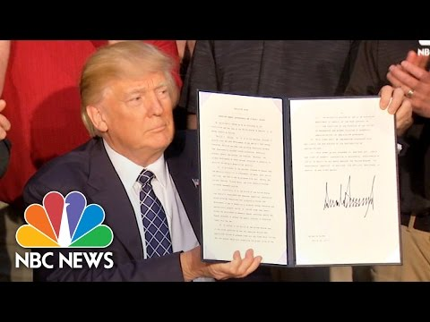 President Trump Signs Executive Order Rolling Back Obama-Era Climate Change Policy | NBC News