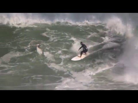 Big wave surfing at Bullies