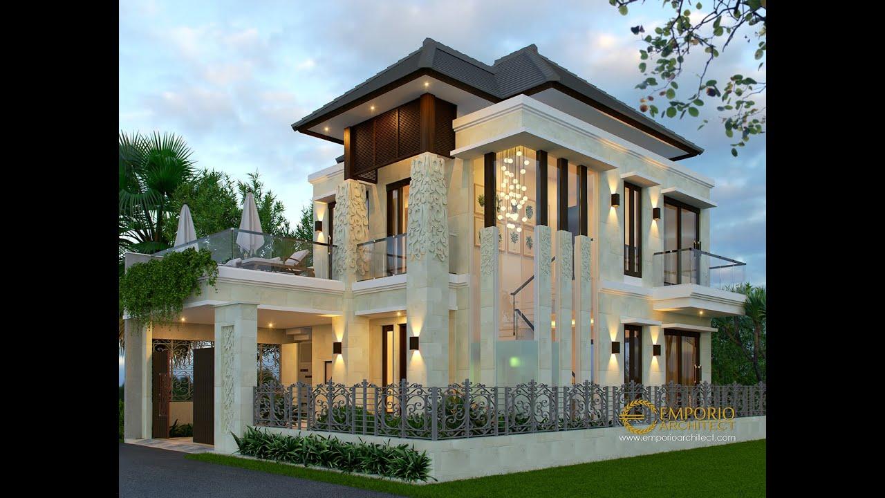 Video 3D Desain Rumah Villa Bali 2 Lantai Bapak Setiawan di Puncak, Bogor