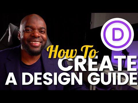 Divi Theme Tutorial | How to Create A Divi Design Guide