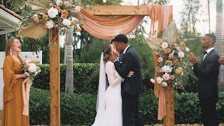 Intimate Backyard Wedding In Jupiter, FL | Gabriella & Dijoun