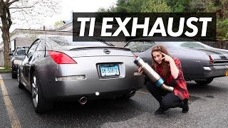 350z tomei exhaust install - TH-Clip