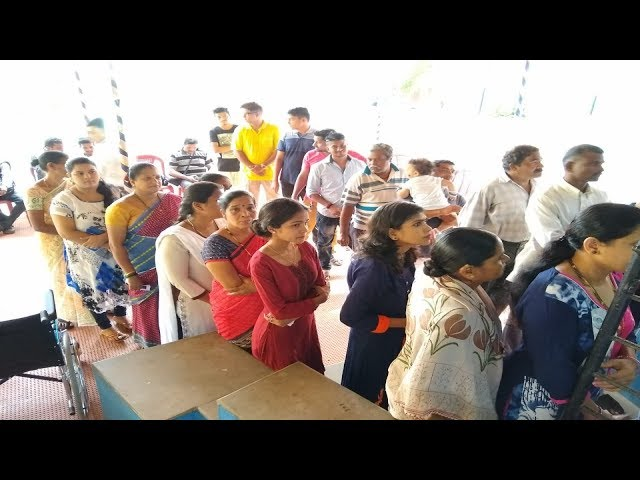 Voters line up as by-polls begin in Panaji, Goa