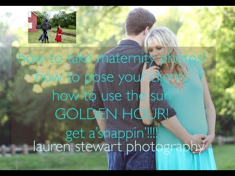 Maternity photo session tips and tricks! Watch a shoot with me.