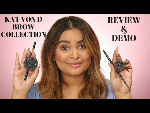 KAT VON D BROW COLLECTION REVIEW + DEMO SIGNATURE BROW PRECISION PENCIL, BROW POWDER, POMADE & BRUSH