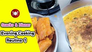 My Evening Cooking Routine - 1 Vazhakkai Baji /Oats Adai /Cooking Vlog /வாழைக்காய் பஜ்ஜி /ஓட்ஸ் அடை