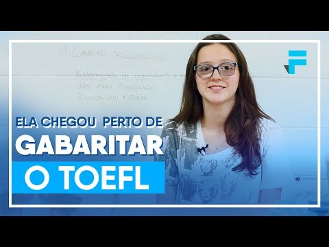 Ela chegou perto de GABARITAR o TOEFL: 118 de 120 pontos!