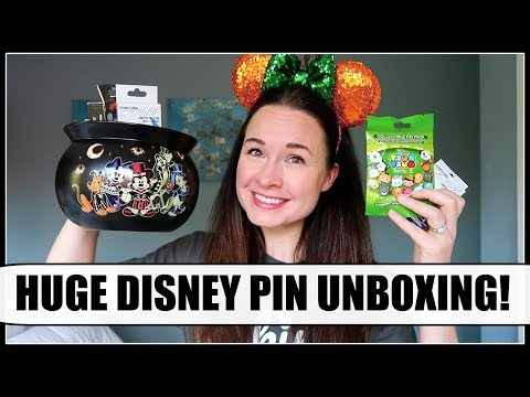 HUGE DISNEY MYSTERY PIN UNBOXING! | October 2017