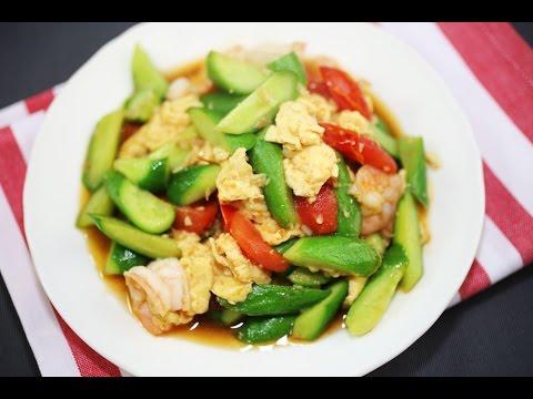 Video How To Make Cucumber Fried Egg - Thai Recipe