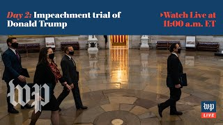Second day of Trump's impeachment trial - 2/10 (FULL LIVE STREAM)