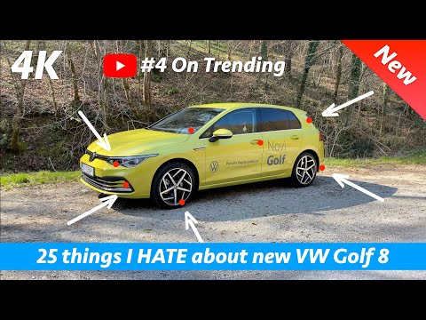 25 things I dislike or HATE on new Volkswagen Golf 8