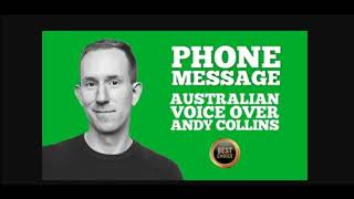 I will voice over your phone message, voice mail, ivr, pro aus male