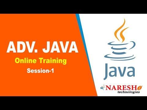 Advanced Java Online Training Session 1 - YouTube