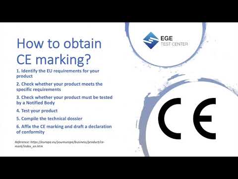 How to obtain CE marking? - YouTube