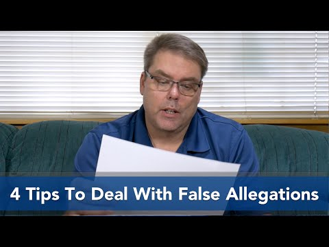 4 Tips to Deal With False Allegations