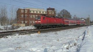 preview picture of video 'Züge zwischen Leipzig und Großkorbetha am 26. Januar 2013'
