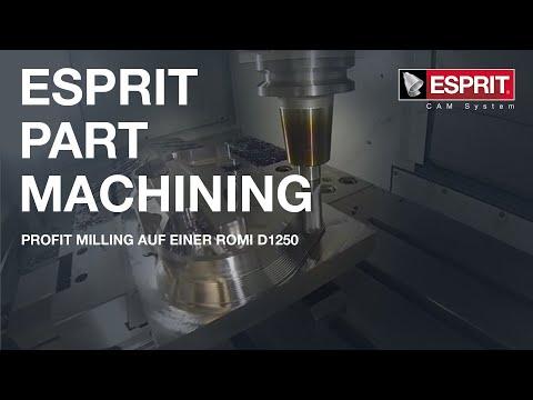 EMO 2019: ESPRIT CAMs ProfitMilling live auf einer ROMI D1250