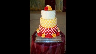 preview picture of video 'Polka Dot Wedding Cake, Benin-city, Nigeria'