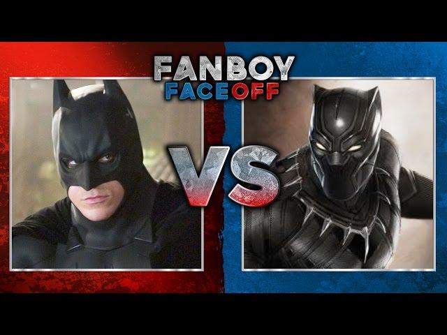 batman vs black panther fanboy faceoff batman iron man fanboy