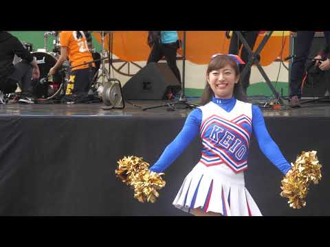 Cheerleading チア チャンスパターンメドレー ⚾️ 慶應義塾大学応援指導部 チアリーディング部 MAJORETTES 2017 白戸ゆめのアナ⚽️ チア Cheerleading