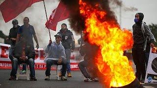 Общенациональная забастовка-потасовка