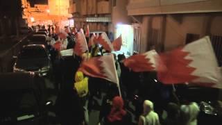 preview picture of video 'البحرين : مسيرة باقون حتى يسقط النظام سترة 14/1/2013'