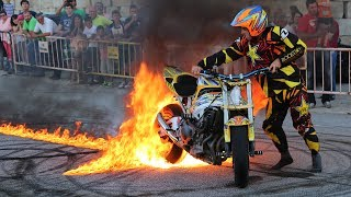 Paulo Martinho | Moto Freestyle | Quemando Rueda [Burnout] | [ Tire 1000 degree ] | BOTICAS