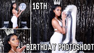 16th Birthday Photoshoot Vlog 🤍 Ft.whitewithstyle | Kalyndianne