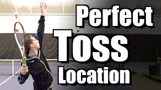 Toss Locations For Different Serves