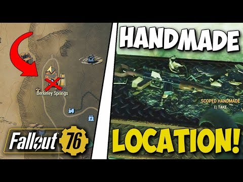 Fallout 76 - RARE HANDMADE WEAPON GUIDE! Spawn Location, Handmade