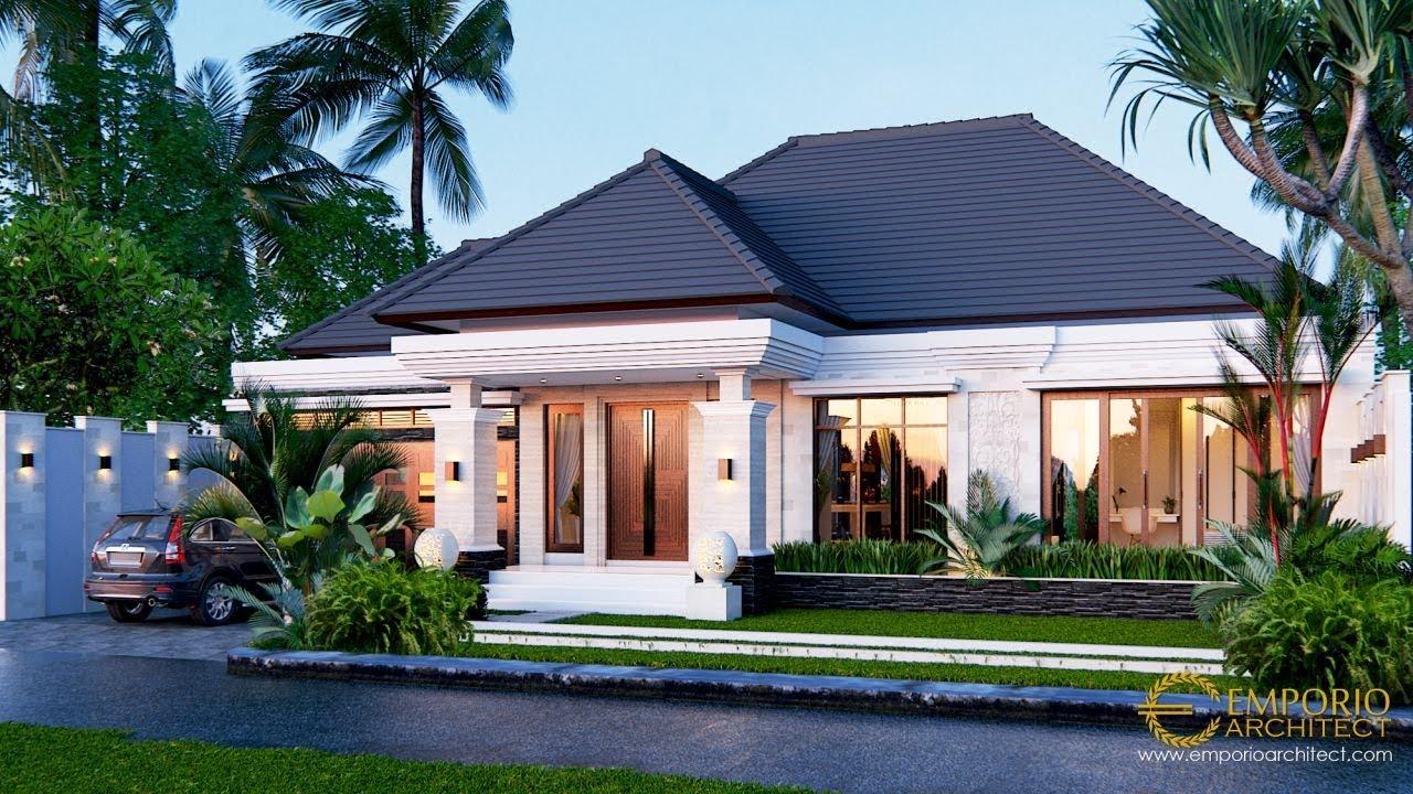 Video 3D Mr. Marno Villa Bali House 1 Floor Design - Jambi