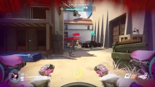Overwatch Beta DVA gameplay POTG Team wipe