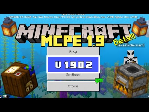 MCPE 1 9 BETA NEW CRAFTING TABLES! Minecraft Pocket Edition