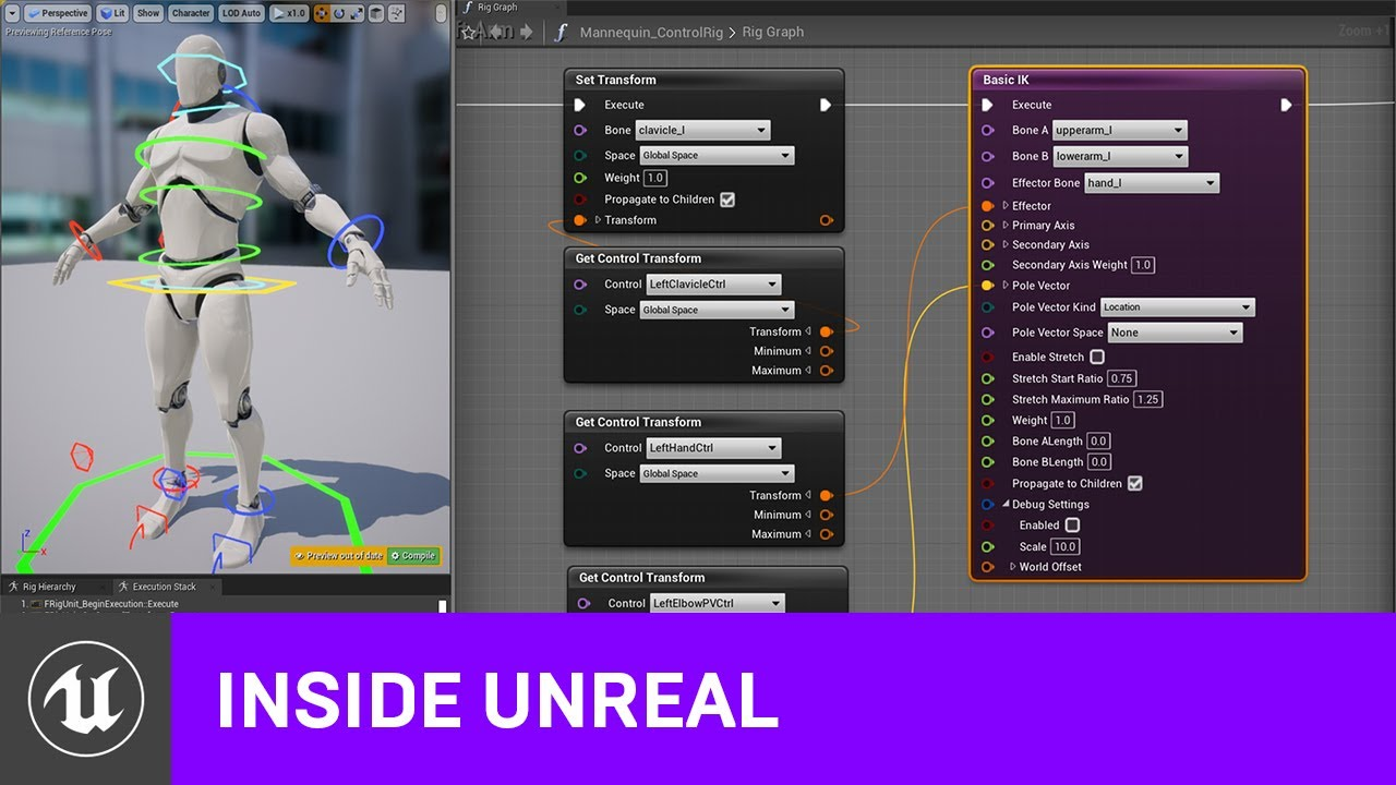 Animating with the Control Rig Sample Project | Inside Unreal