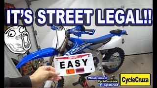 My YZ450FX is Street Legal! | Make a Dirt Bike STREET LEGAL | Kholo.pk