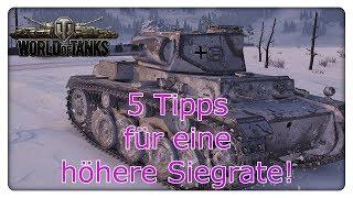 5 Tipps für eine höhere Siegrate!  [World of Tanks - Gameplay - Deutsch]
