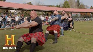 STRONGMEN VS. SCOTSMEN IN EPIC TUG-OF-WAR | The Strongest Man in History (Season 1) | History