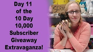 Day 11 of the 10 Day 10,000 Subscriber Giveaway Extravaganza!