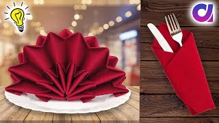 10 Napkin Fold Ideas /10 Easy Napkin Folds For Any Dinner Party!