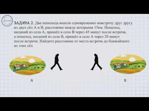 Методика решения задач на прямолинейное равномерное движение. Часть 1