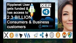 Ripple Award Winner InstaRem 2.3 Billion Customers & $20B Funding, Digital Assets ie XRP Bank Future