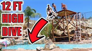 FUNK BROS ROLLEY CHAIR VS EPIC 12 FT HIGH DIVE