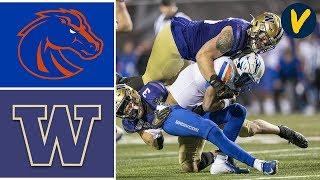 #19 Boise State Vs Washington Highlights   2019 Las Vegas Bowl   College Football
