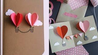 3D Valentines Handmade Card | How To Make Valentines Card - DIY 3D Card | DIY Card For Boyfriend