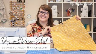 Make Your Own Denim Skirt For Any Occasion (Free Pattern) | Spoonflower