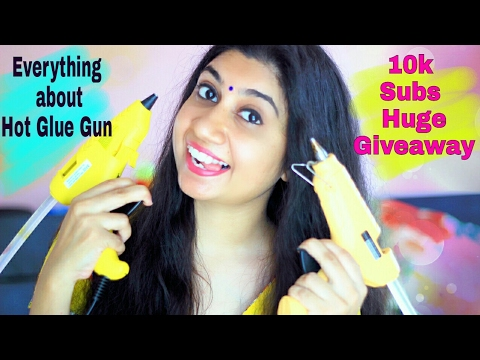 Hot Glue Gun review Hindi + International Giveaway (Closed)