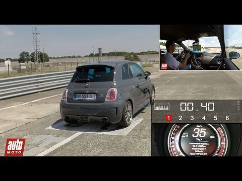 2015 Abarth 595 Competizione 1.4 T-Jet : 0 à 100 km/h sur le circuit de Montlhéry - AutoMoto